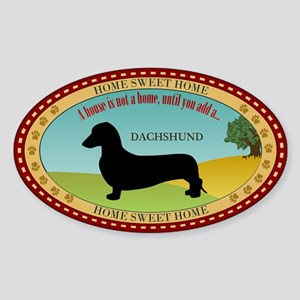 Dachshund [smooth] Sticker (Oval)